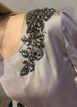 Шикарное  шелковое платье m-l