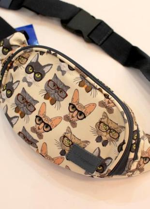 Бананка, барсетка, поясная сумка, барыжка, сумка на пояс, коты