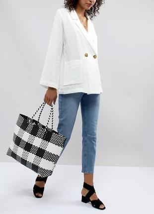 Плетенная сумка asos