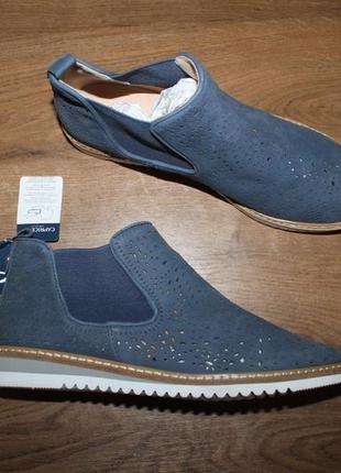 Кожаные ботинки с перфорацией caprice on air, 37 размер