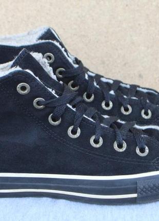 Зимние кеды converse замша 36.5 ботинки