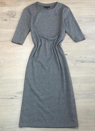 Платье с рубчик
