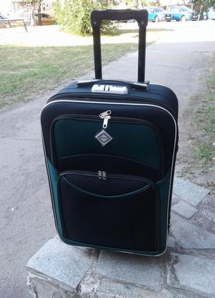Чемодан дорожный тканевый на 5 колесах сумка польша
