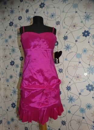 Платье яркое нарядное с подкладкой vera mont
