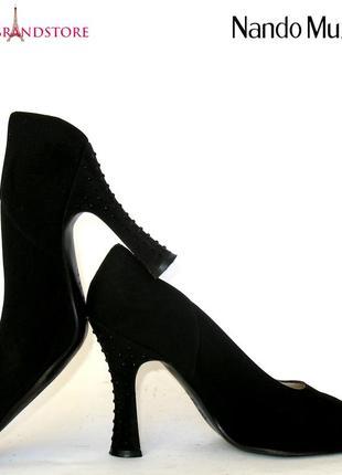 Женские туфли nando muzi италия классика лето итальянские туфельки лодочки высокий каблук
