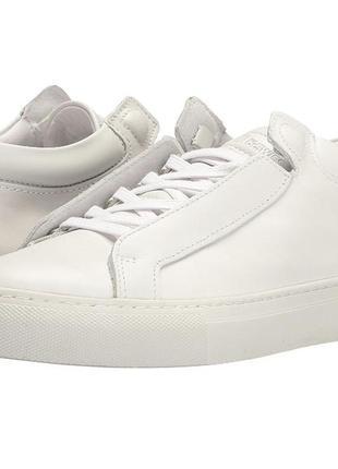 Оригинал. кожа.белые ботинки слипоны к-swiss 41р-27 см