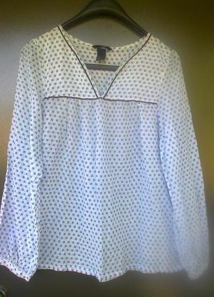 Рубашка h&m 100 % котон