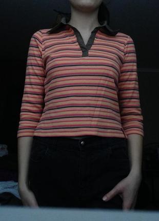 Полосатая блуза з 3/4 рукавом