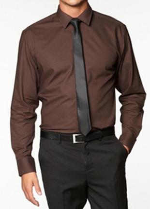 Ben sherman(оригинал) стильная шоколадная рубашка