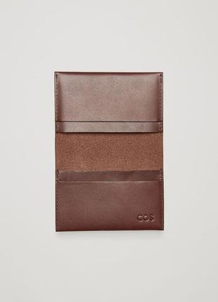 Кожаный кардхолдер / бумажник / кошелёк cos