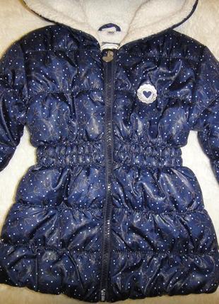 Красивая легкая теплая куртка на меху baby club р. 80 деми германия