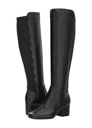 Bandolino оригинал черные кожаные высокие сапоги бренд из сша