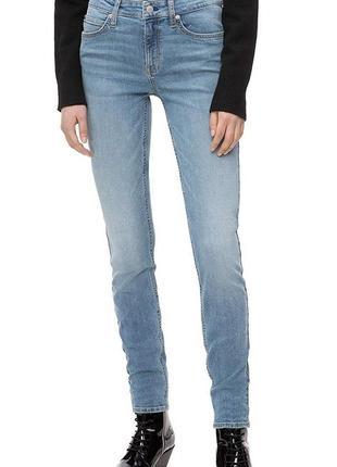 Calvin klein оригинал узкие голубые джинсы скинни средняя посадка бренд из сша