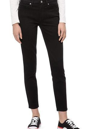 Calvin klein оригинал узкие черные джинсы скинни средняя посадка бренд из сша