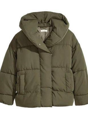 Куртка тёплая дутая есть дефект фабричный курта одеяло oversize от h&m
