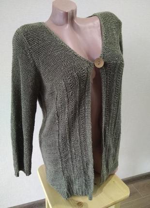 В наличии кофта джемпер вызаный свитер размер л-хл 12-14