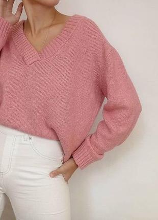 Кофта с вырезом,в рубчик свитер,свитерок, джемпер