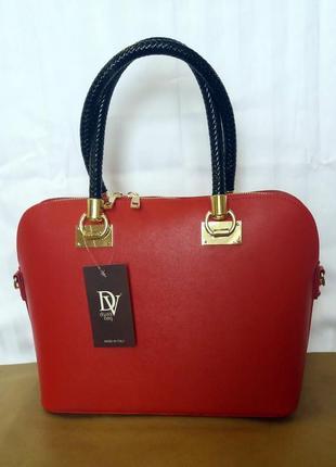 Стильная кожаная сумка divas bag, пр-во италии