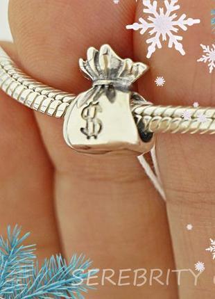 10% скидка - подписчикам! шарм-подвес для браслета в стиле пандора серебряный. br 3100538