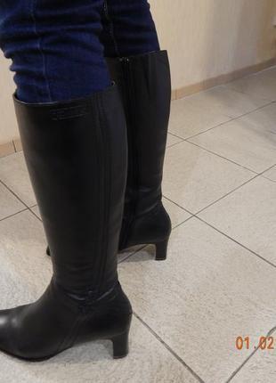 Сапоги кожа tamaris осень 39 размер