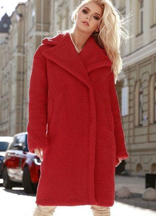 Трендовое  меховое пальто в стиле max mara