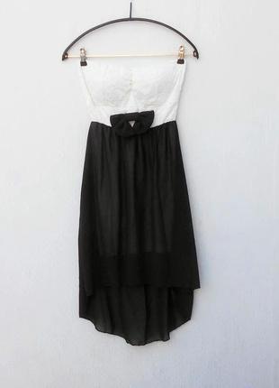 Нарядное кружевное платье бюстье из вискозы