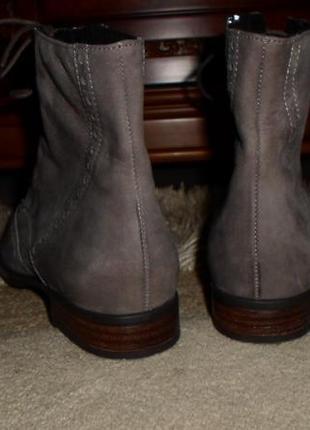 Элитные мягенькие утепленые бренд.ботинки-оксфорды semler,кожа,германия4 фото