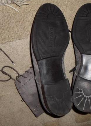 Элитные мягенькие утепленые бренд.ботинки-оксфорды semler,кожа,германия5 фото