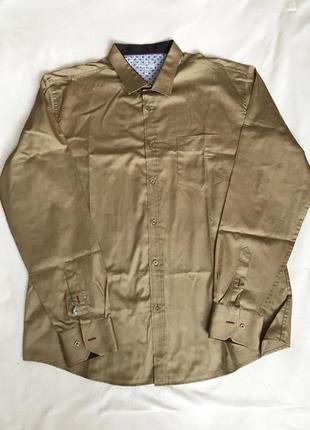 Рубашка горчичного цвета