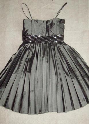 Платье атлас плиссе miso, размер s