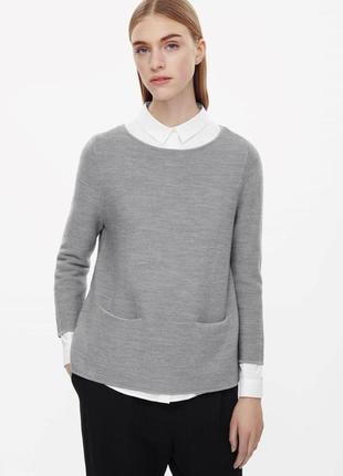 Cos шерстяной свитер джемпер 34,36