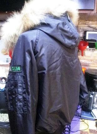 Kappa (оригинал) италия  короткая куртка  с капюшоном с мехом енота3 фото