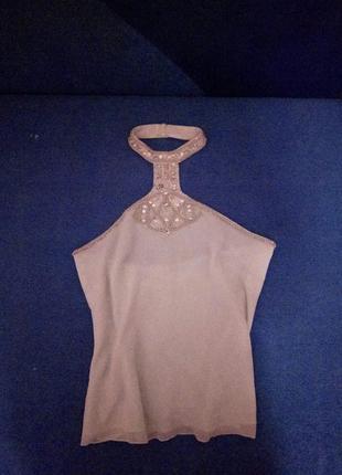 Шикарный шифоновый топ, майка, блуза