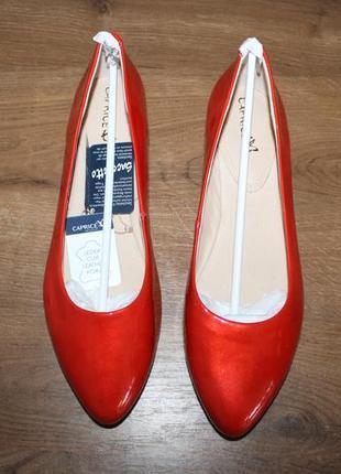 Лакированные туфли caprice on air, 39 размер
