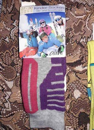 Лыжные термоноски гольфы