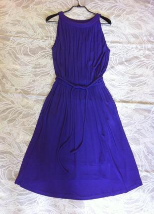 Bgn- французский шик! красивое струящееся платье с карманами (100% вискоза)  40-42-44