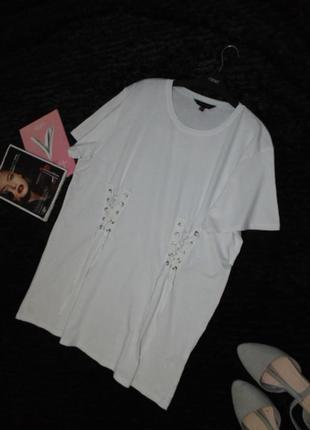 Стильная футболка со шнуровкой new look/16 размера2