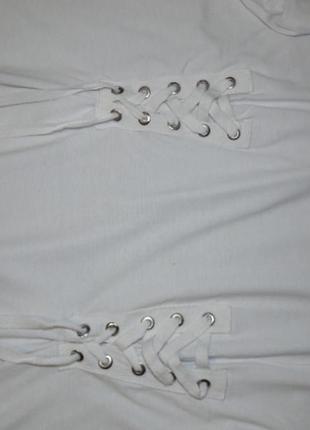 Стильная футболка со шнуровкой new look/16 размера4
