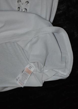 Стильная футболка со шнуровкой new look/16 размера5