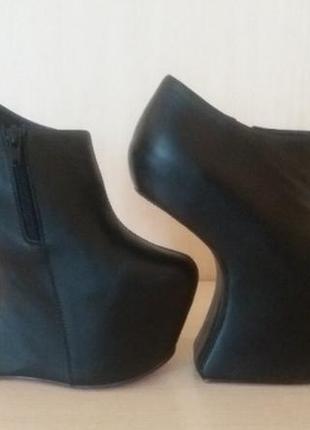 Новые эпатажные кожаные ботинки 37-38 р.