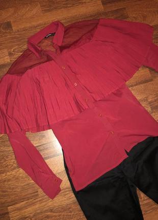 ❤️ мега стильная блузочка :плиссе+ сеточка от jennifeer ❤️