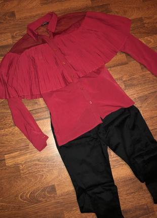 ❤️ мега стильная блузочка :плиссе+ сеточка от jennifeer ❤️2