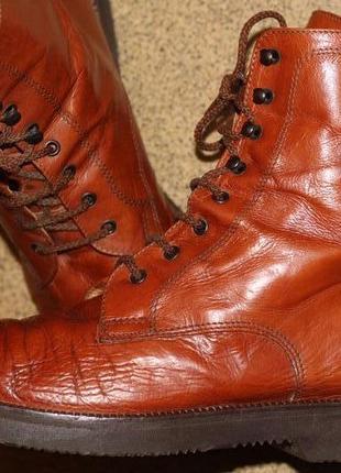 Фирменные ботинки из натуральной кожи raffaella venturini 38 разм