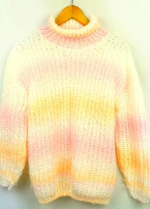 Свитер вязанный oversize разноцветный