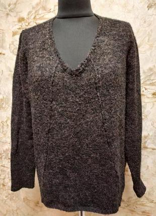 Стильный тёплый свитер, насыщенного шоколадного цвета, размер 46-48