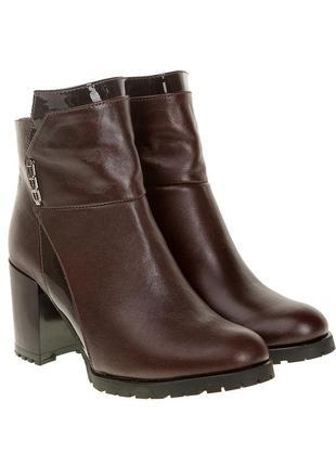 473бп женские ботильоны el passo,кожаные,на каблуке,на толстой подошве,на толстом каблуке