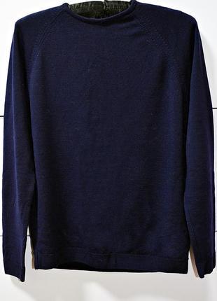 Очень теплый из шерсти синий свитерок бренд ewm