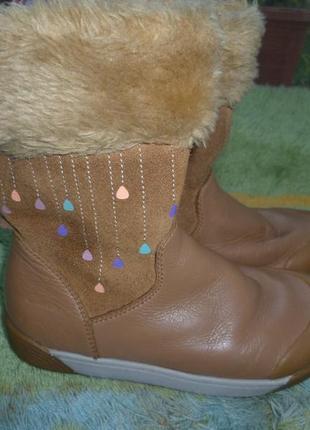 Черевики шкіра clarks (р.27 (9) - устілка18см) ботинки сапожки сапоги
