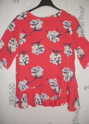 """Очень элегантная блузка asos актуального цвета в 2019 года """"живой коралл"""""""