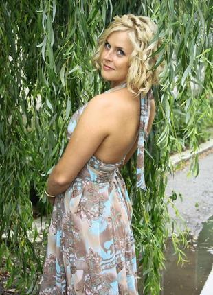 Шифоновое летнее платье в пол